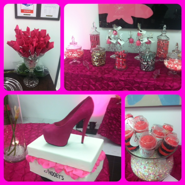 Some of the goodies at her event.